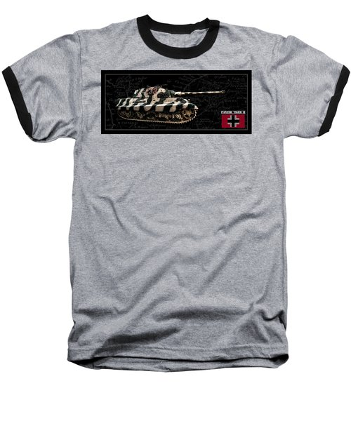 Panzer Tiger II Side Bk Bg Baseball T-Shirt