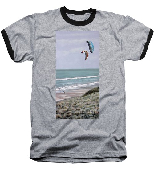 Baseball T-Shirt featuring the painting Papamoa Beach 090208 by Sylvia Kula