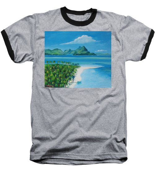 Papeete Bay In Tahiti Baseball T-Shirt