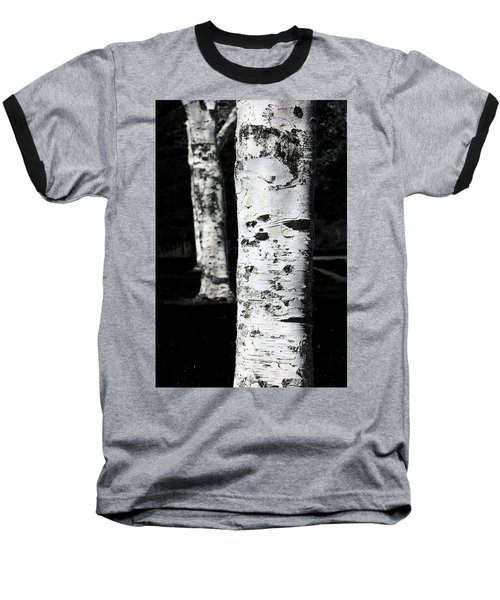 Paper Birch Baseball T-Shirt by Aaron Berg