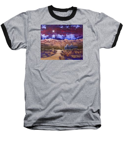 Paper Moon Baseball T-Shirt by Jack Malloch