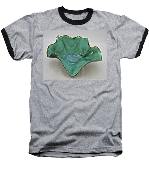 Baseball T-Shirt featuring the sculpture Paper-thin Bowl  09-009 by Mario Perron