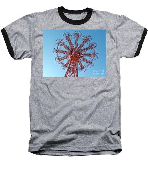 Baseball T-Shirt featuring the photograph Parachute Jump-coney Island by Ed Weidman