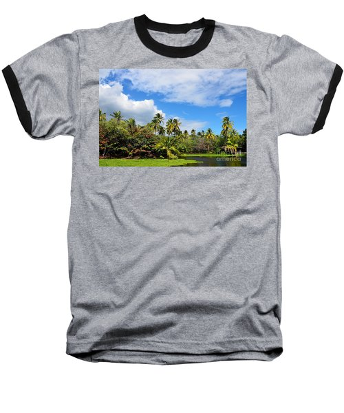 Baseball T-Shirt featuring the photograph Paradise Lagoon by David Lawson