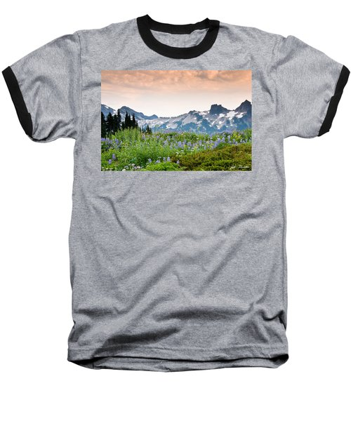 Baseball T-Shirt featuring the photograph Paradise Meadows And The Tatoosh Range by Jeff Goulden