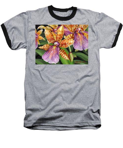 Paradise Orchid Baseball T-Shirt by Jane Girardot