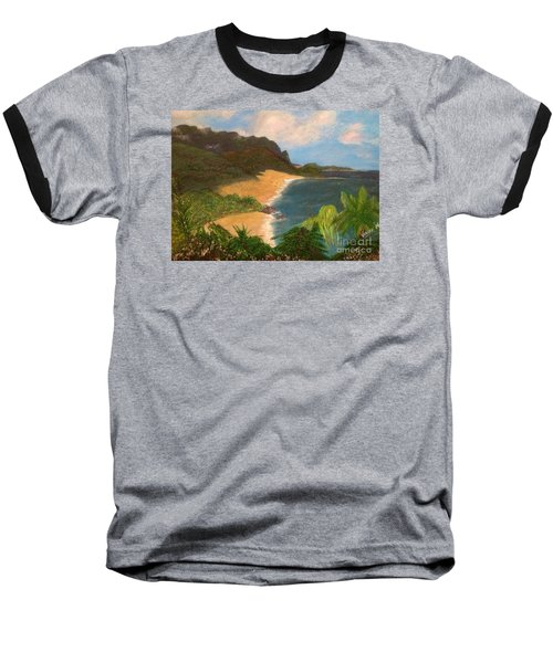 Baseball T-Shirt featuring the painting Paradise by Vanessa Palomino