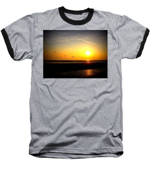 Paragliders At Sunset Baseball T-Shirt