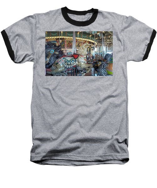 Paragon Carousel Nantasket Beach Baseball T-Shirt