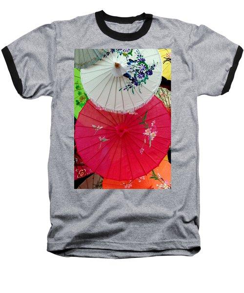 Parasols 1 Baseball T-Shirt by Rodney Lee Williams