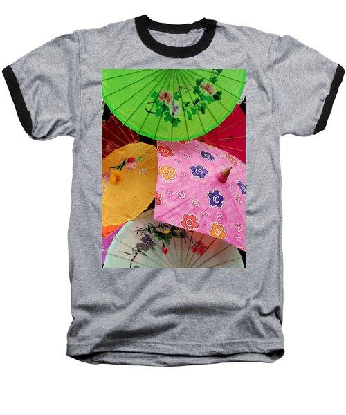 Parasols 2 Baseball T-Shirt by Rodney Lee Williams