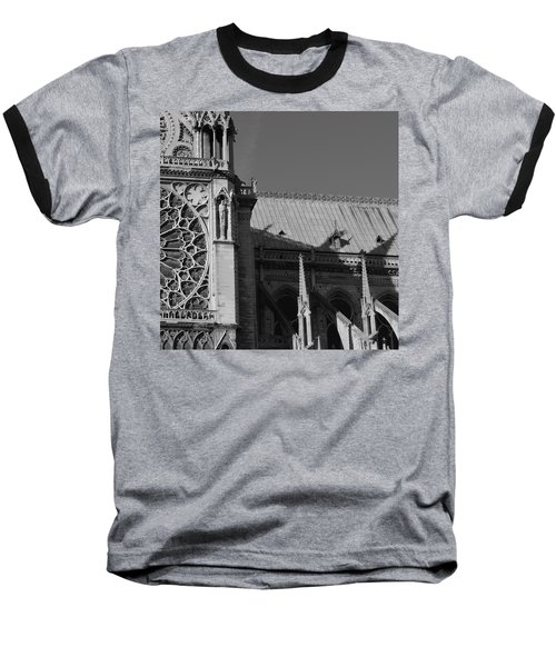 Paris Ornate Building Baseball T-Shirt