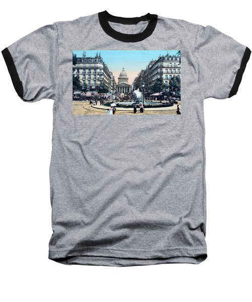 Paris 1910 Rue Soufflot And Pantheon Baseball T-Shirt