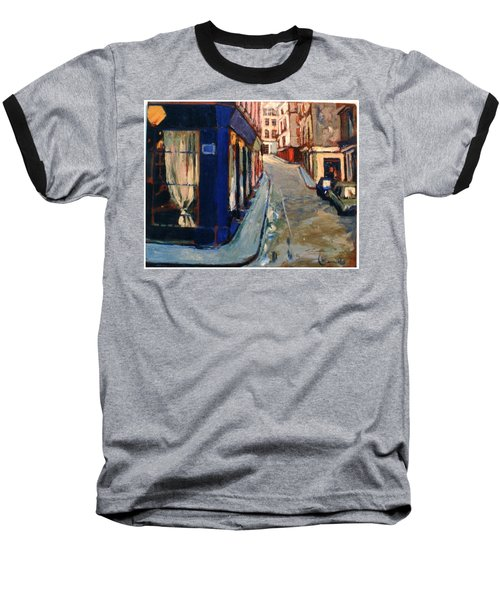 Baseball T-Shirt featuring the painting Paris Cityscape by Walter Casaravilla