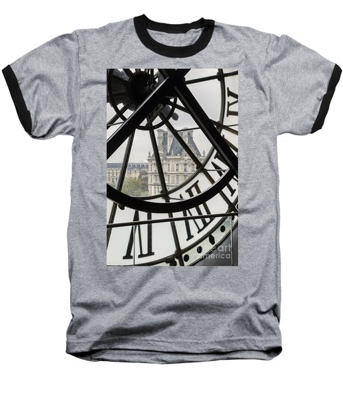 Paris Clock Baseball T-Shirt