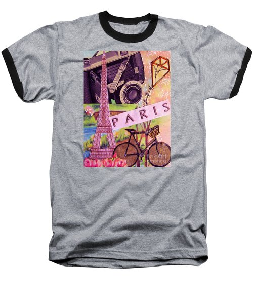 Baseball T-Shirt featuring the drawing Paris  by Eloise Schneider