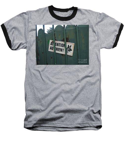 Paris - Farm Dog Baseball T-Shirt by HEVi FineArt
