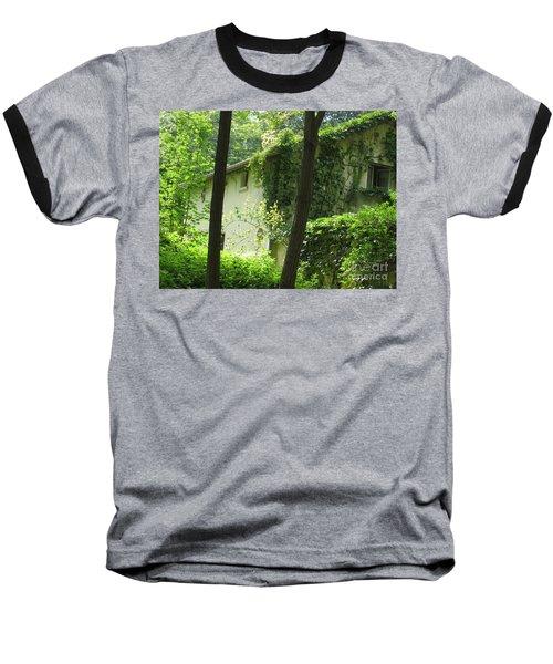 Paris - Green House Baseball T-Shirt by HEVi FineArt