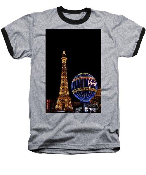 Paris In Vegas Baseball T-Shirt