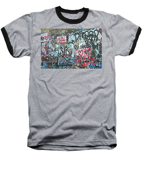 Baseball T-Shirt featuring the photograph Paris Mountain Graffiti by Kathy Barney