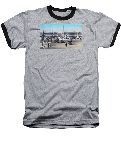 Paris Place De La Concorde 1910 Baseball T-Shirt