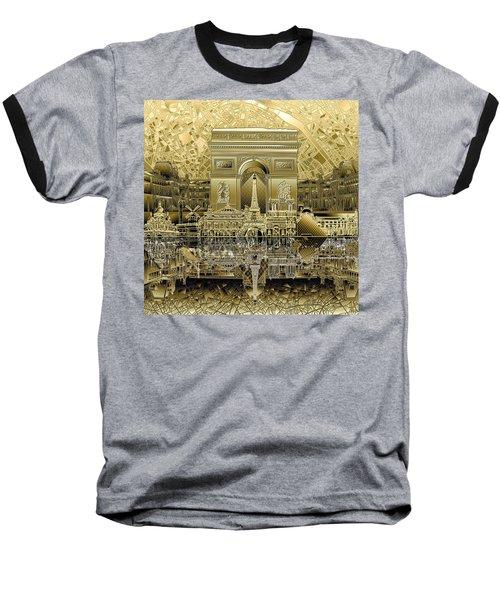 Paris Skyline Landmarks 4 Baseball T-Shirt