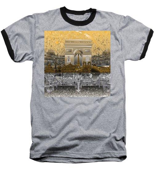 Paris Skyline Landmarks 5 Baseball T-Shirt