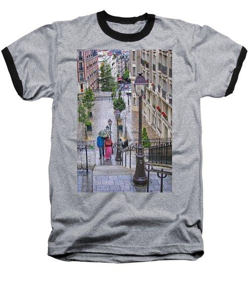 Paris Sous La Pluie Baseball T-Shirt