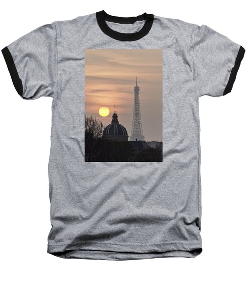 Paris Sunset I Baseball T-Shirt