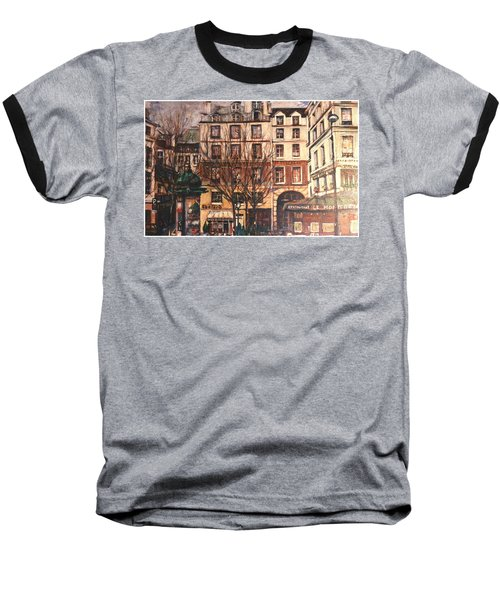 Baseball T-Shirt featuring the painting Paris by Walter Casaravilla