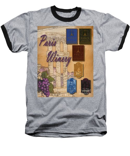 Paris Winery Labels Baseball T-Shirt