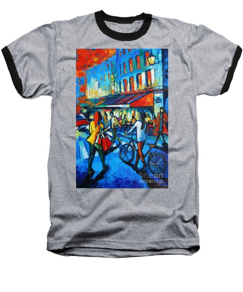 Parisian Cafe Baseball T-Shirt