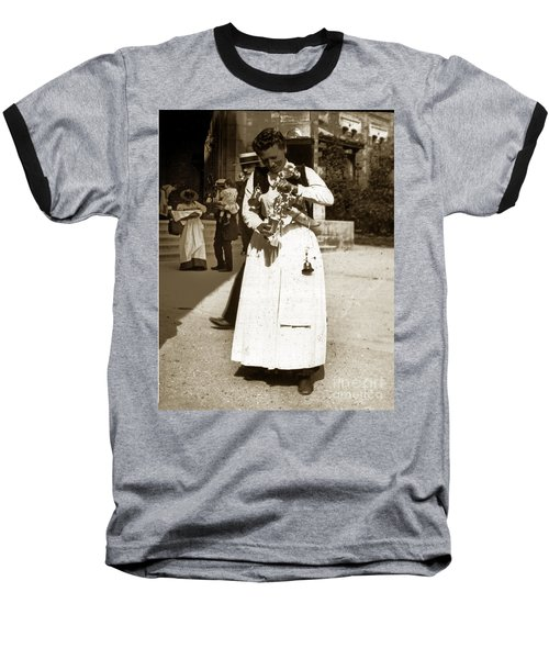 Baseball T-Shirt featuring the photograph Parisian Woman Lady Paris France 1900 Historical Photo by California Views Mr Pat Hathaway Archives