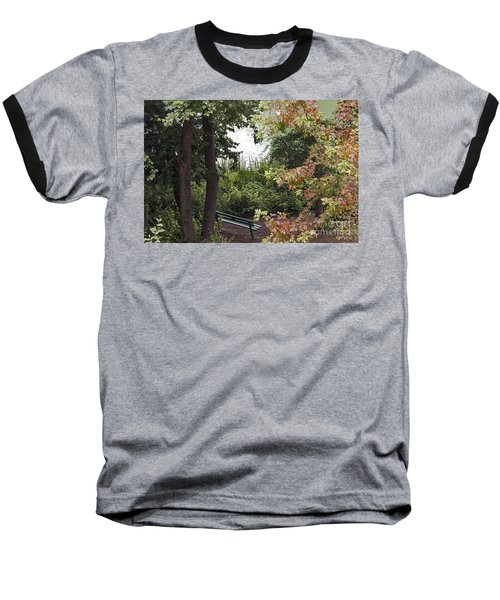 Baseball T-Shirt featuring the photograph Park Bench by Kate Brown
