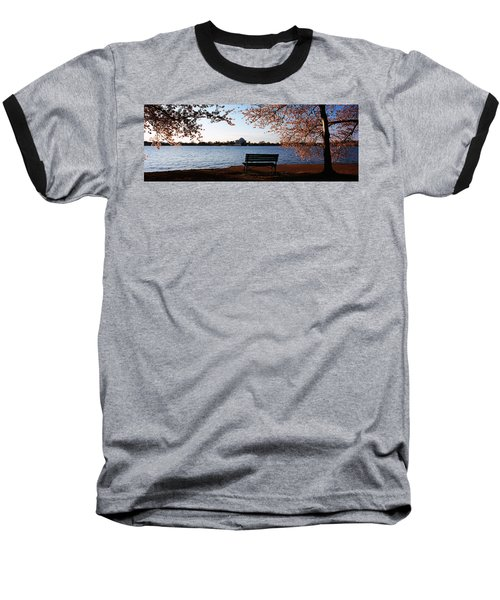 Park Bench With A Memorial Baseball T-Shirt by Panoramic Images