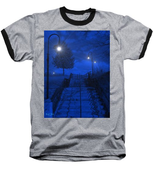 Baseball T-Shirt featuring the photograph Park Stairs by Michael Rucker