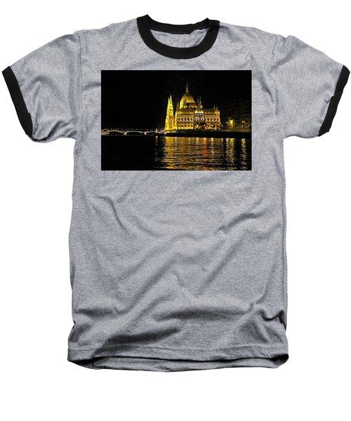 Parliament At Night Baseball T-Shirt