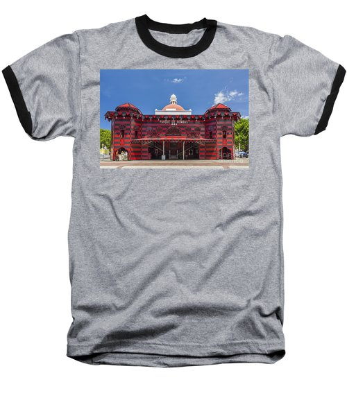 Parque De Bombas Fire Station In Ponce Puerto Rico Baseball T-Shirt