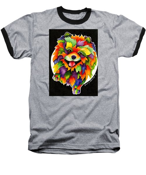 Party Pom Baseball T-Shirt by Sherry Shipley