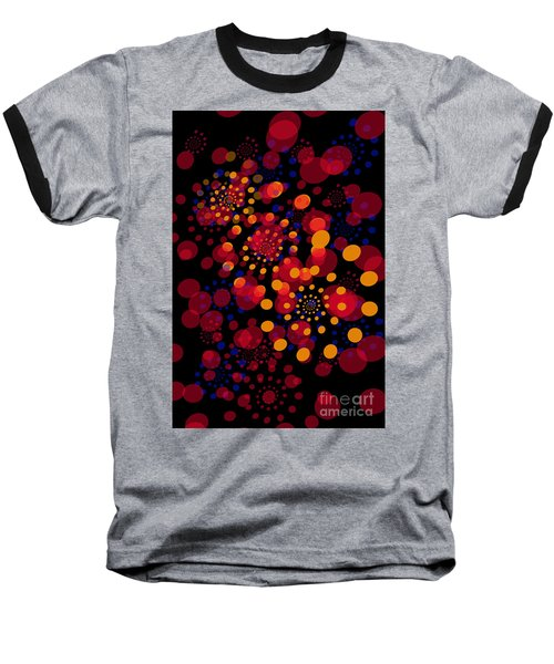 Party Time Abstract Painting Baseball T-Shirt