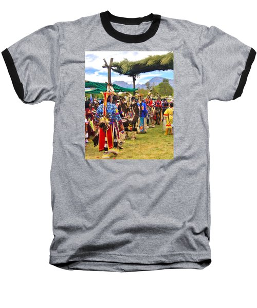 Party Time Baseball T-Shirt by Marilyn Diaz