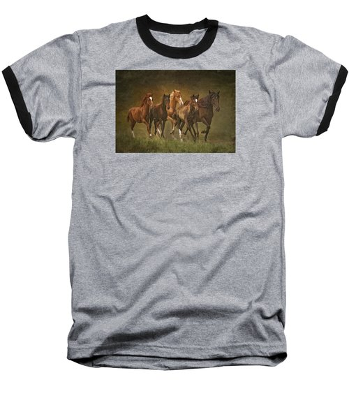 Baseball T-Shirt featuring the photograph Paso Peruvians by Priscilla Burgers