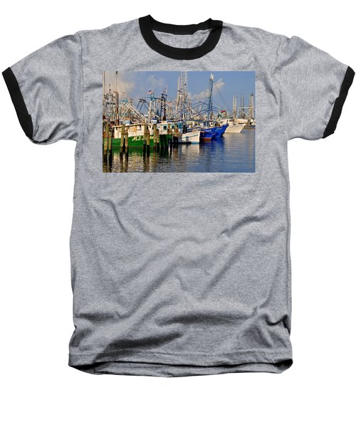 Pass Christian Harbor Baseball T-Shirt by Charlotte Schafer