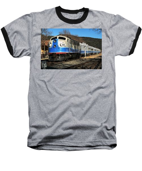 Baseball T-Shirt featuring the photograph Passenger Train by Michael Gordon