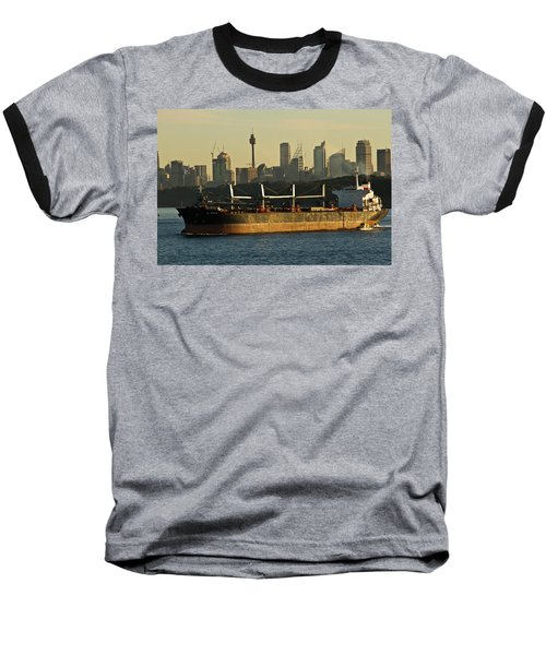 Baseball T-Shirt featuring the photograph Passing Sydney In The Sunset by Miroslava Jurcik