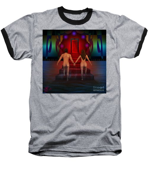 Baseball T-Shirt featuring the digital art Passion Ascending by Rosa Cobos