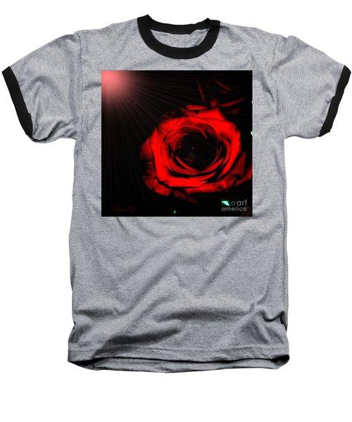 Passion. Red Rose Baseball T-Shirt