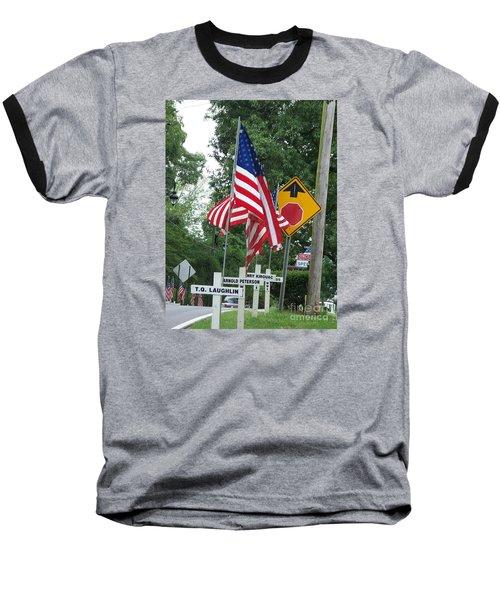 Past Heros Baseball T-Shirt by Marilyn Zalatan