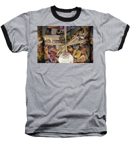 Pasta  Baseball T-Shirt by Debi Demetrion