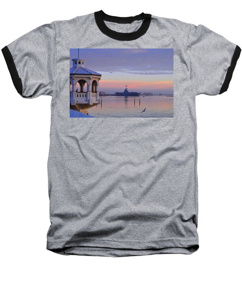 Pastel Uss Lexington Baseball T-Shirt